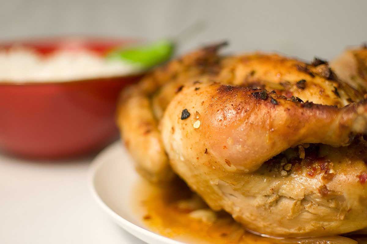 Recipe for Thai Spiced Roasted Chicken at Life's Ambrosia