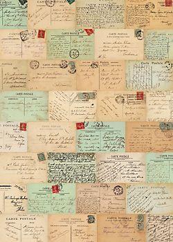 Cavallini Paris Postcards Wrapping Paper