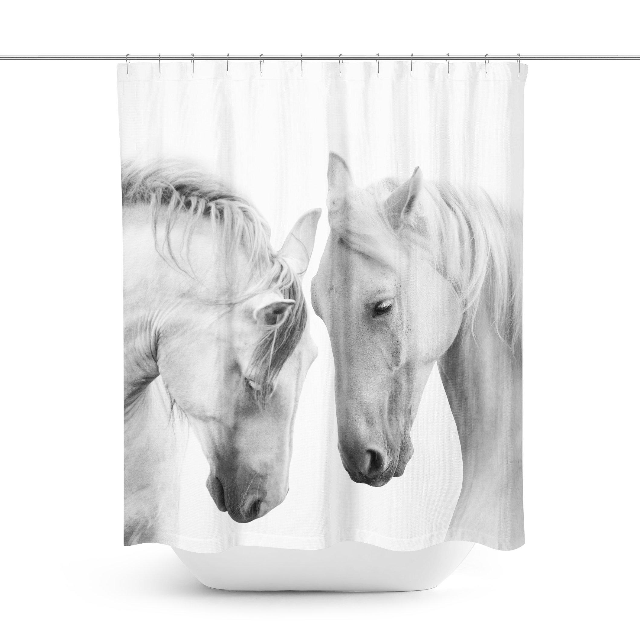 Horse White Curtains
