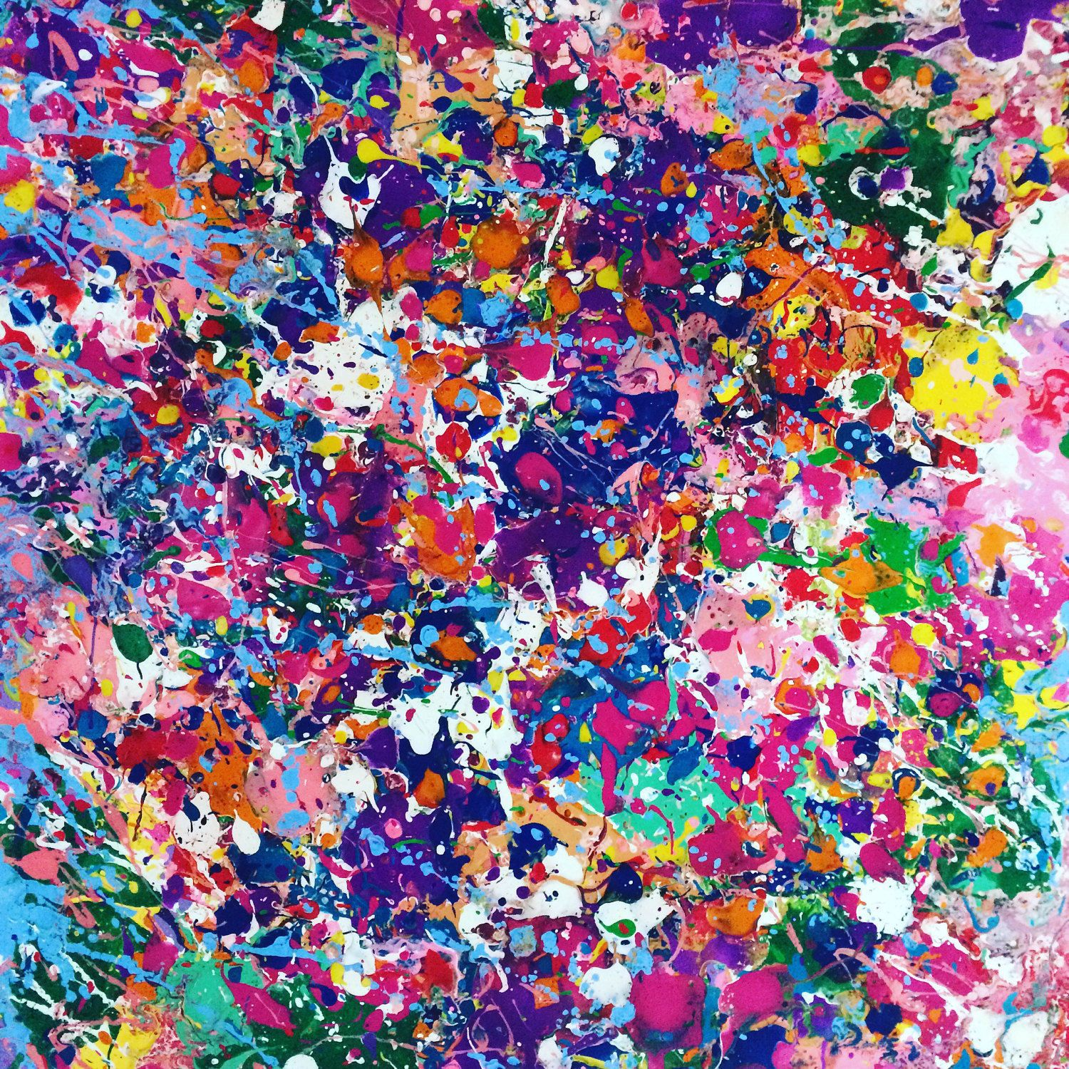 Abstract Canvas Art Splatter Painting Colorful Painting ...