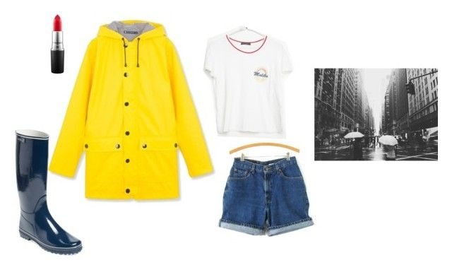 """""""Temps pluvieux #3"""" by annabelle-gindre on Polyvore featuring mode, Cire, Aigle, Levi's, Brandy Melville et MAC Cosmetics"""
