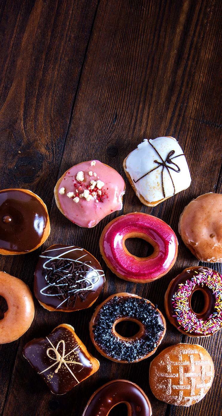 Doughnuts Food wallpaper, Food iphone, Iphone wallpaper