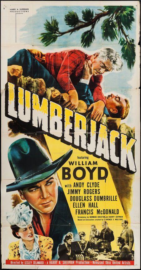 """Lumberjack (United Artists, 1944). Three Sheet (41"""" X 79"""
