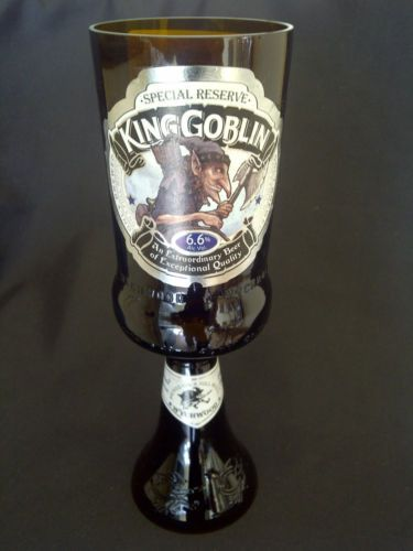 KING GOBLIN BEER // ALE GLASS GOBLET 100/% RECYCLED HOBGOBLIN SPECIAL RESERVE