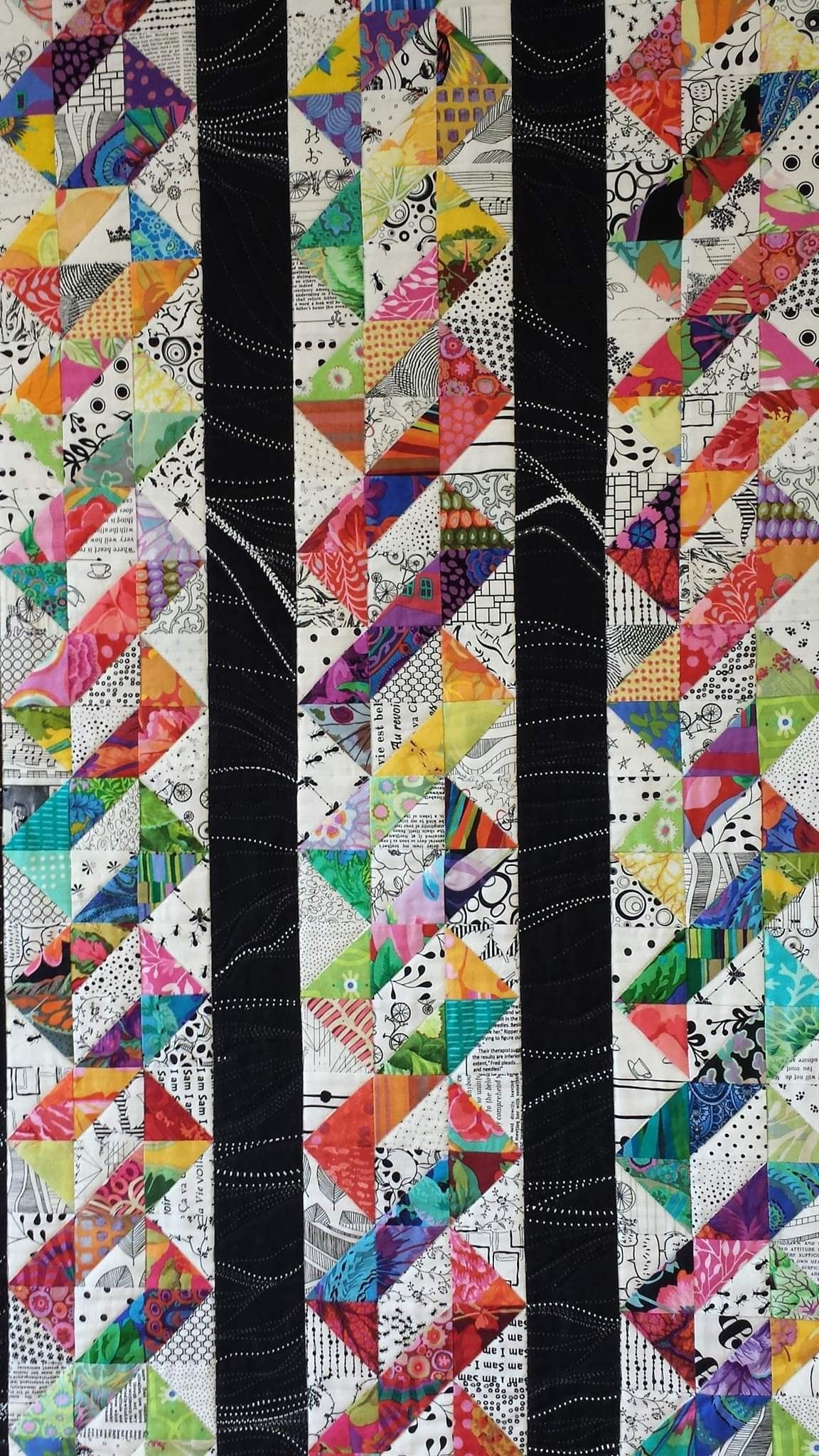 Darklight scrap quilt idea | Scrap quilt patterns, Half