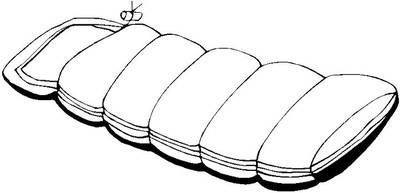 sleeping bag coloring pages - photo#2