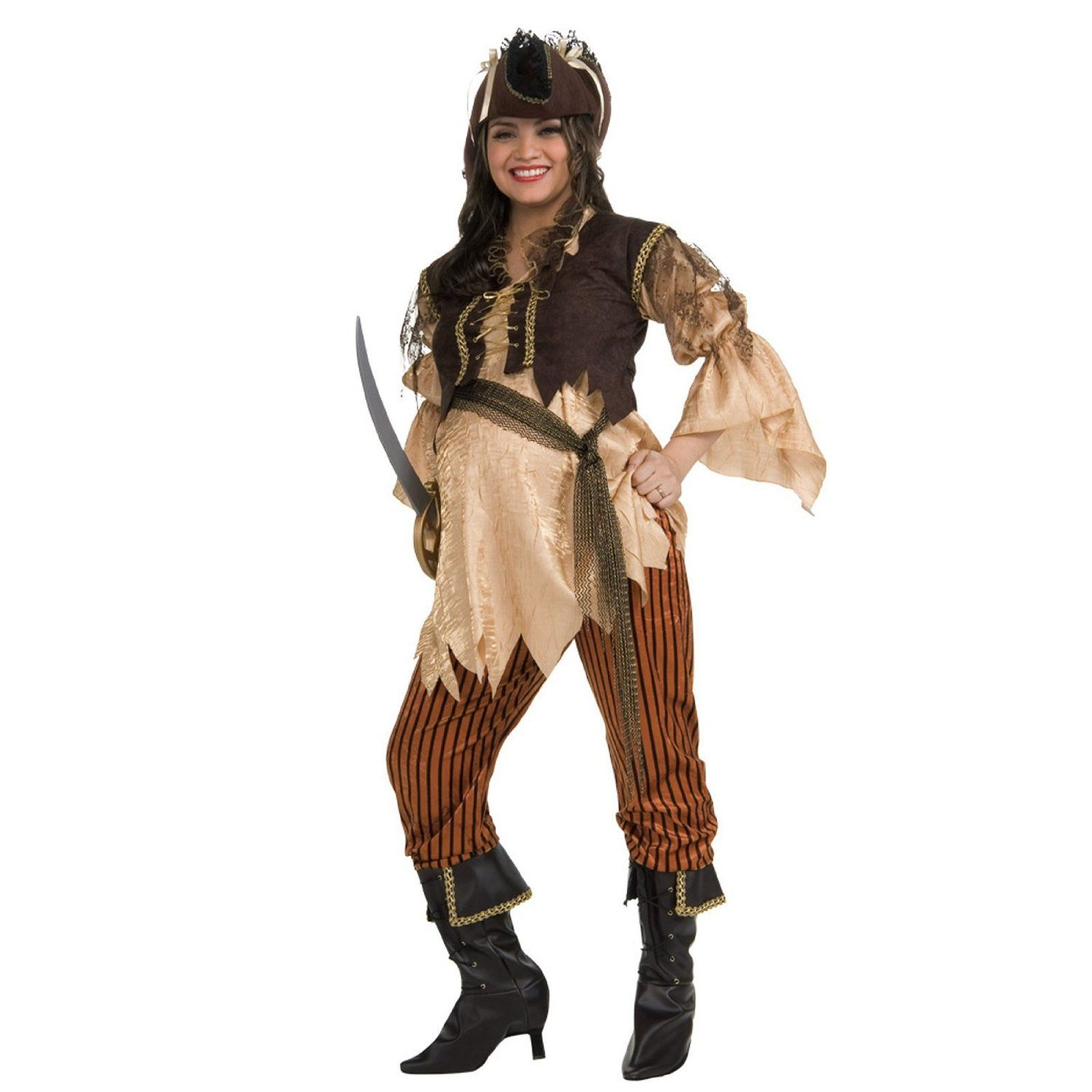 Pregnant Halloween Costumes-Maternity Pirate Costume | Halloween ...