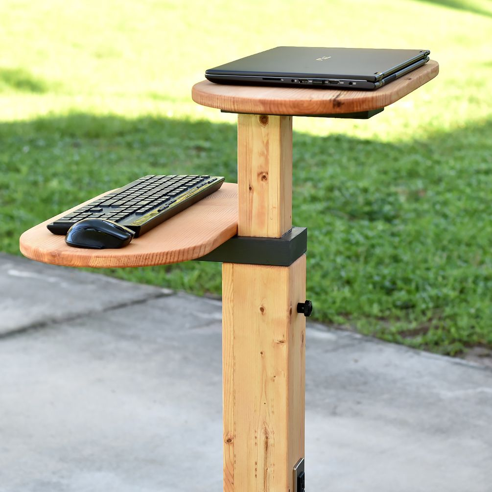 Diy Standing Desk Adjustable And Mobile Pdf Plan Diy Creators Diy Standing Desk Standing Desk Diy Adjustable Laptop Desk Diy