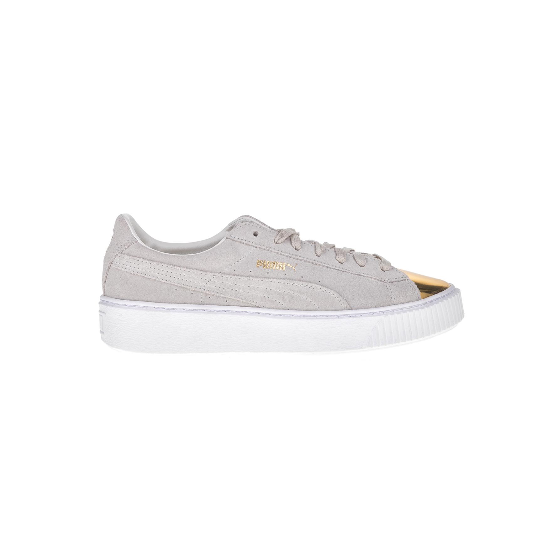 9167b33414a PUMA – Γυναικεία sneakers Puma SUEDE PLATFORM μπεζ – χρυσά Γυναικεία/ Παπούτσια/Sneakers PUMA