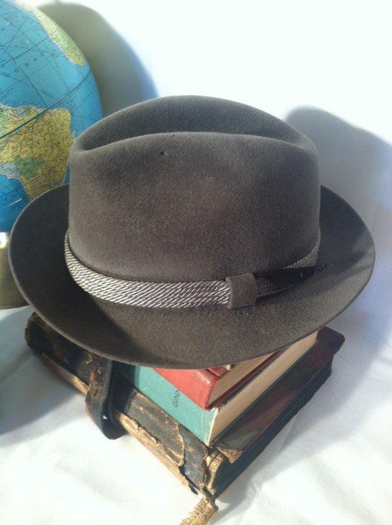 Vintage Dobbs Fifth Avenue New York Mens Hat by ZassysTreasures ... 4ab454b6e9d