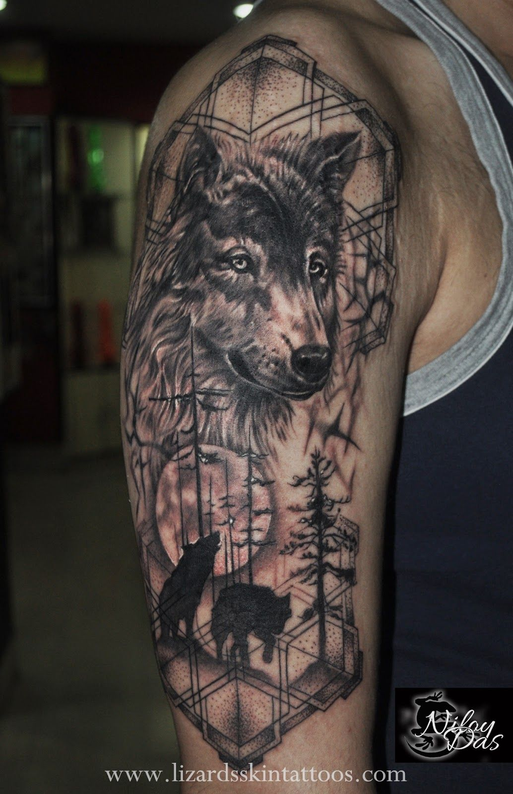 badass wolf tattoo tattoo. Black Bedroom Furniture Sets. Home Design Ideas