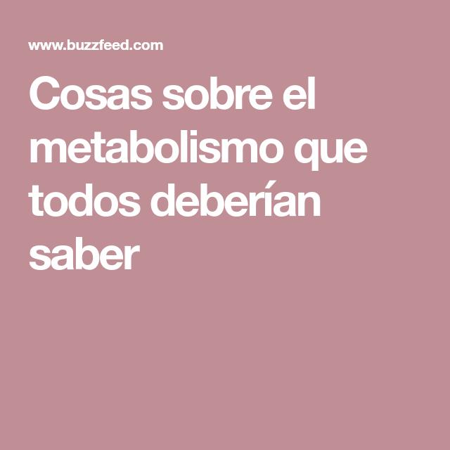 Como acelero mi metabolismo
