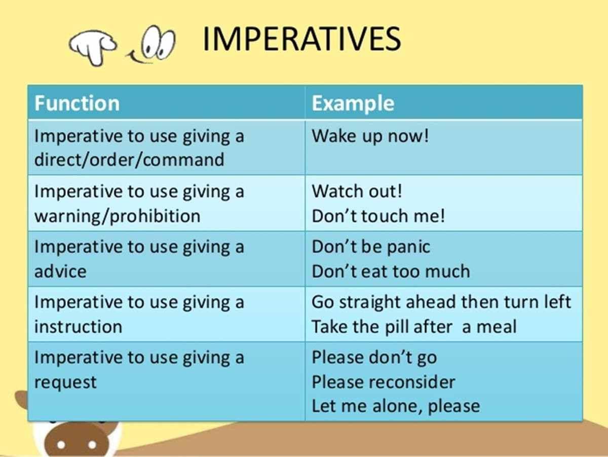 Imperative Sentences Definition Examples Basics Of English