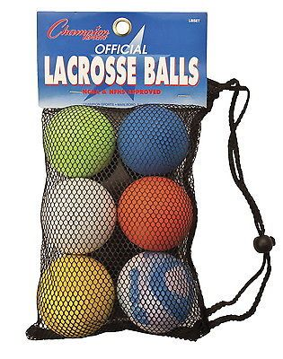 Balls 108179: Stx High-Quality Official Lacrosse Balls, Set Of 6 BUY IT NOW ONLY: $30.89