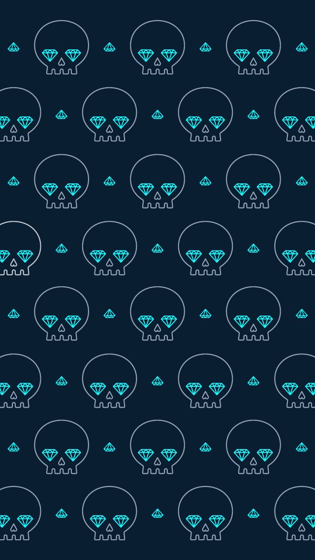 Diamond Skull IPhone5 Wallpaper