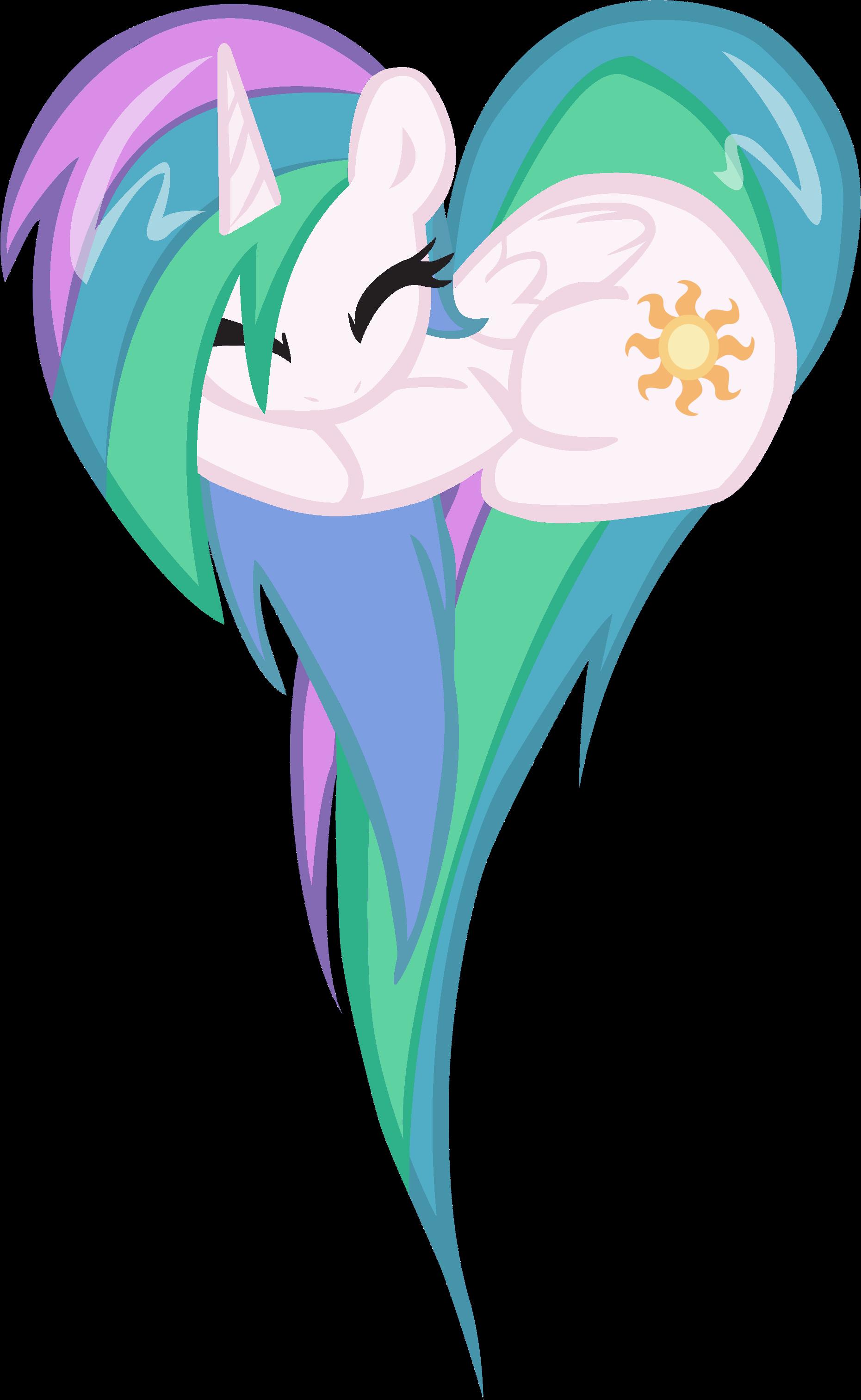 Принцесса Селестия картинка сердечком | MLP | Пони ...