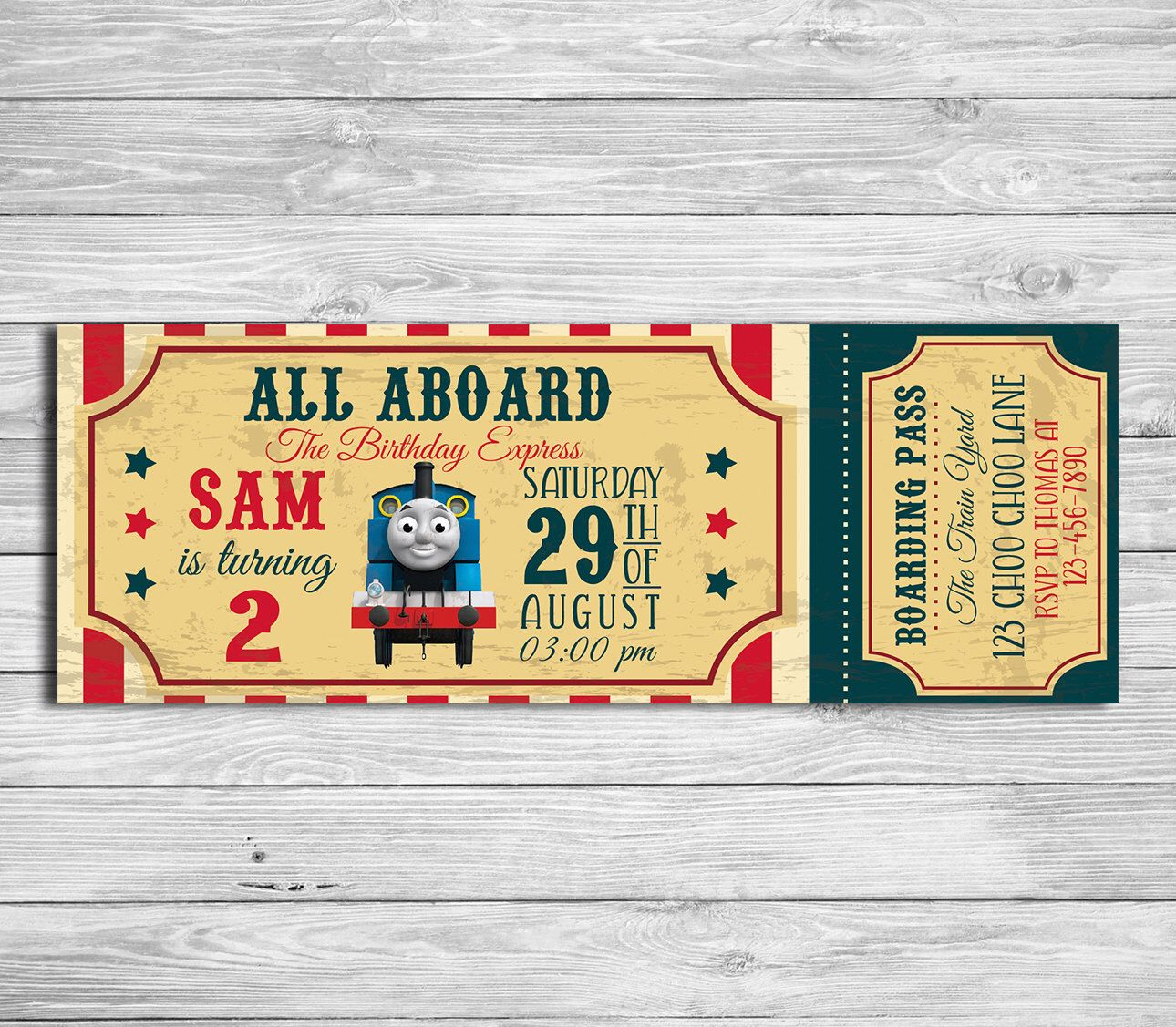 Pin by amy mullen on coopers 3rd birthday pinterest party thomas the train birthday party invitation by designphotoart filmwisefo Choice Image