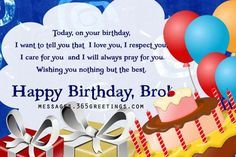 Happy Birthday To My Brother From Sister Google Search Happy Birthday Brother Birthday Wishes For Brother Brother Birthday Quotes