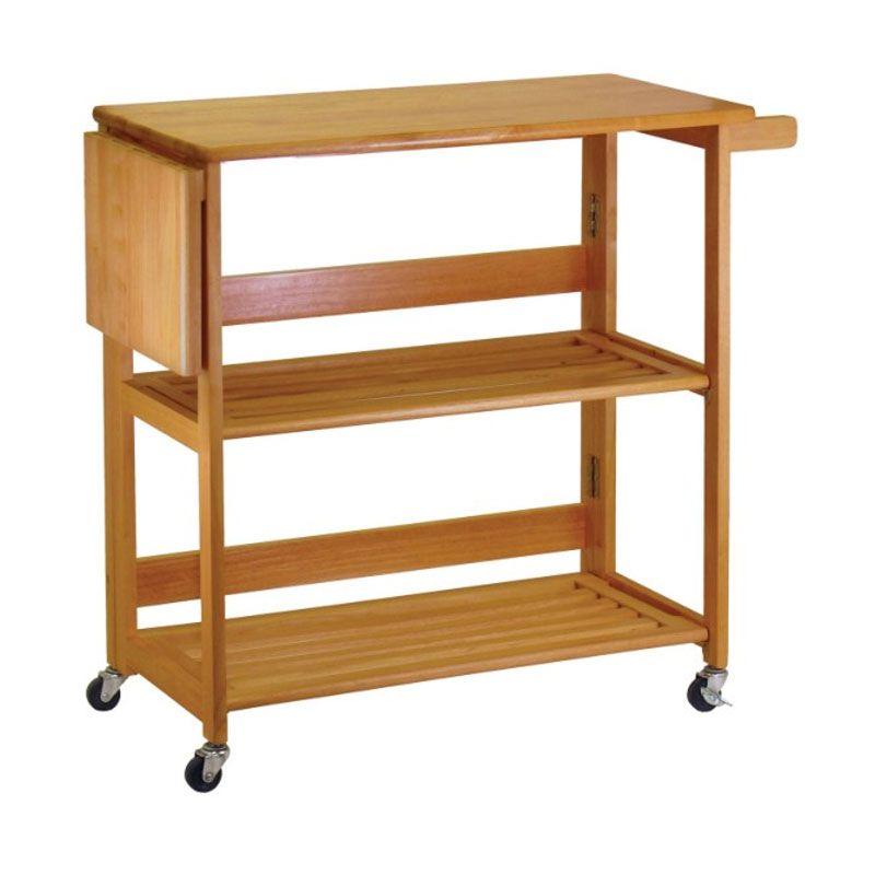 winsome wood foldable kitchen cart 34137  kitchen cart