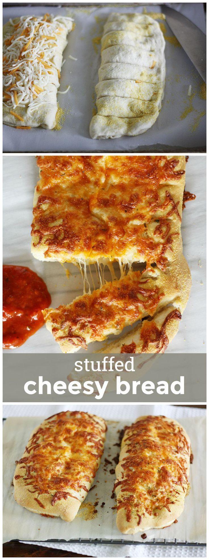 Stuffed Cheesy Bread Cheesy bread recipe, Food, Food recipes