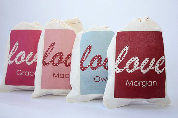 Personalized Favor Bags for your #Valentines Day party!