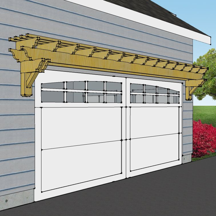 This Eyebrow Pergola Is Made From High Grade Rough Saw Cedar And