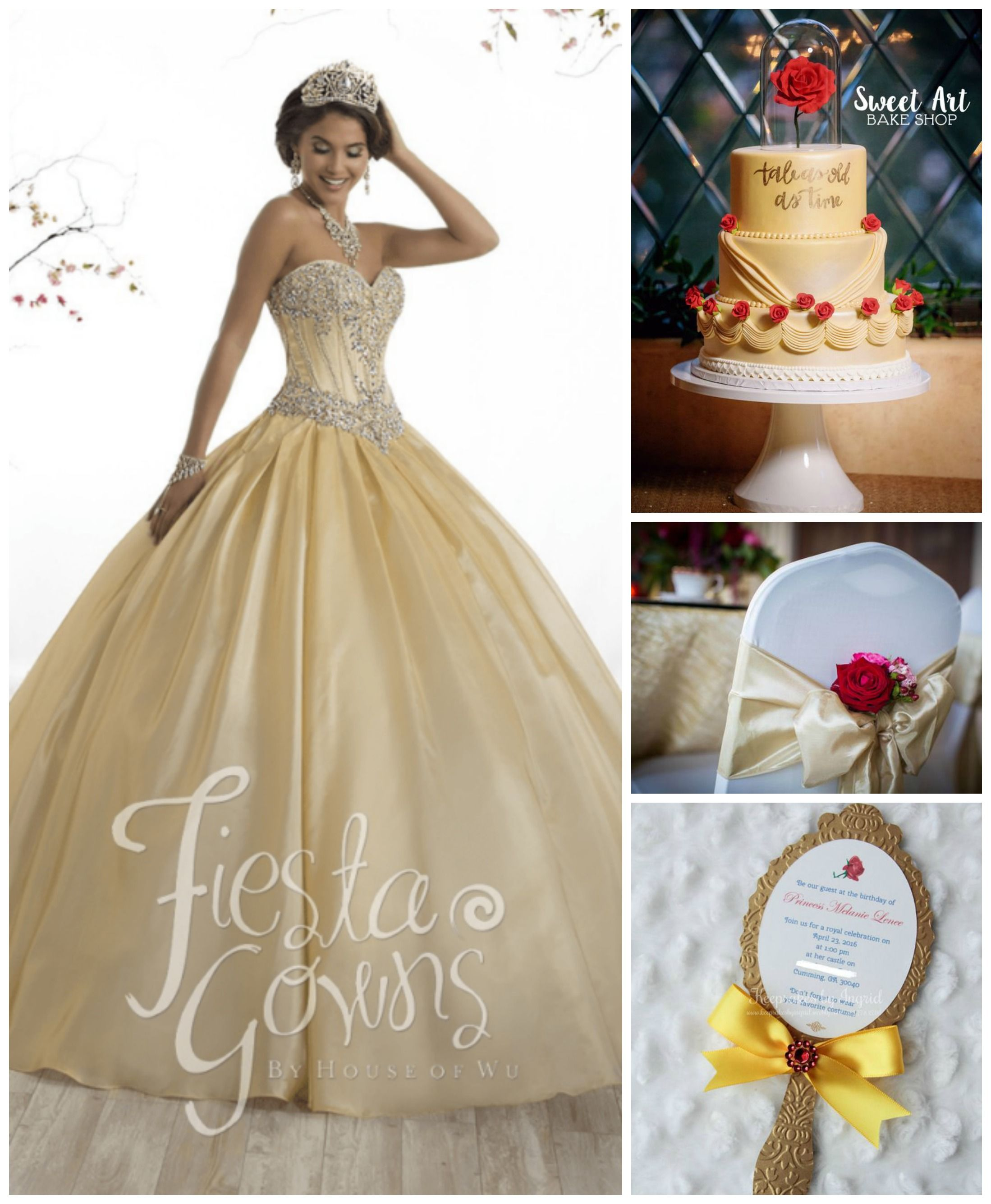05178f92466 10 Beauty and the Beast Inspired Quinceanera Dresses