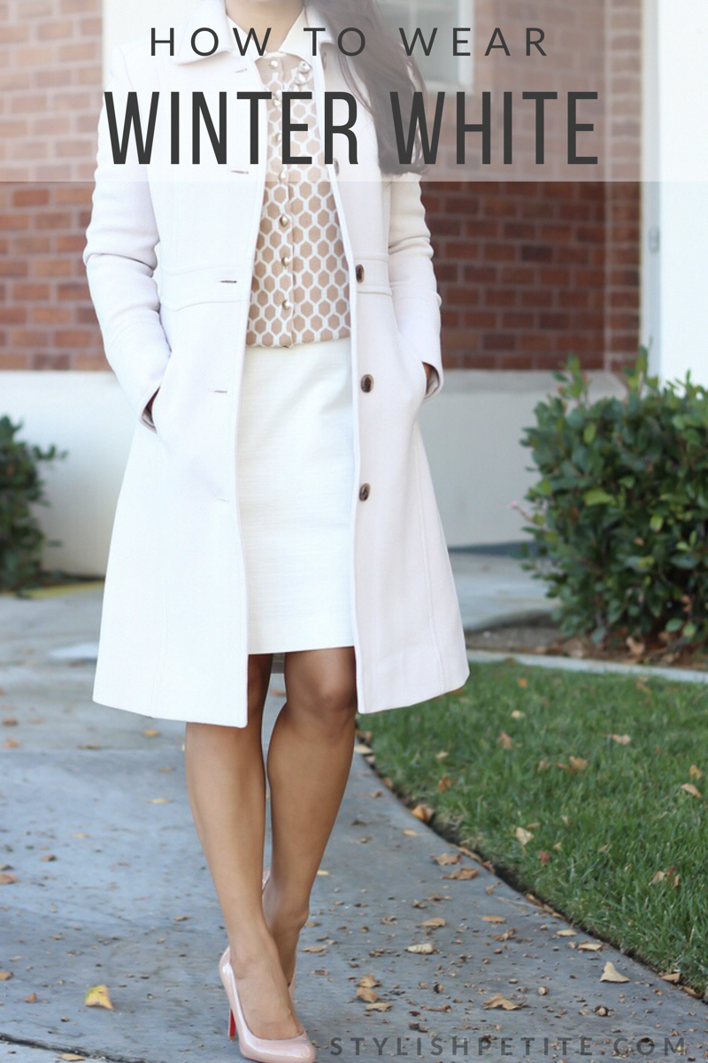 d0c21a1145 How to wear winter white - classy work outfit
