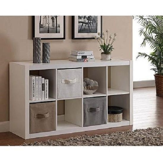 Merveilleux Cube Bookcase Organizer TV Stand Furniture 8 Shelves Storage Wood Living  Room #BetterHomesandGardens