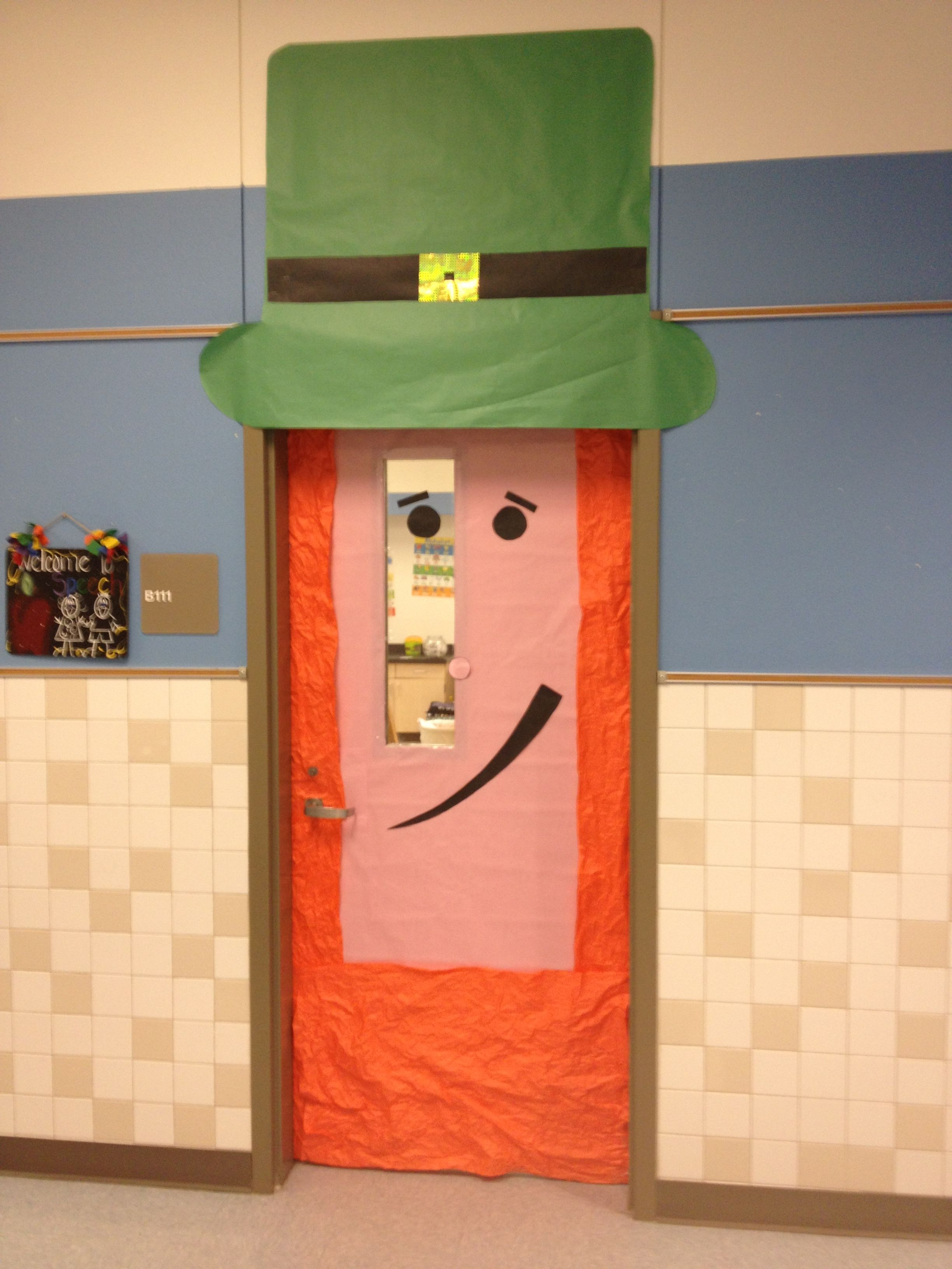 St Patrick S Day Door Decoration For The Classroom Kids