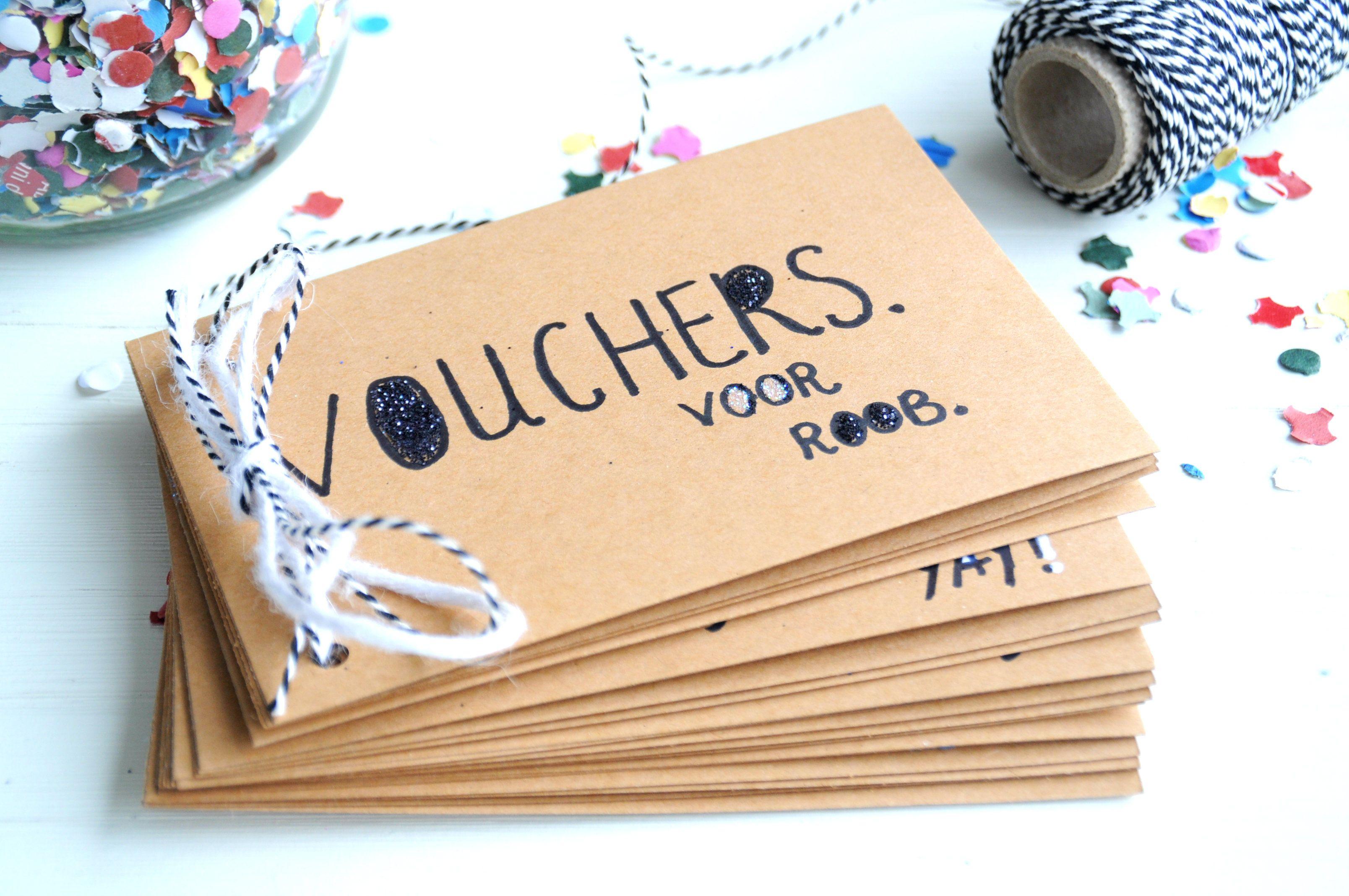 Genoeg Zelf boekje met tegoedbonnen & waardebonnen maken | Pinterest  &FI18