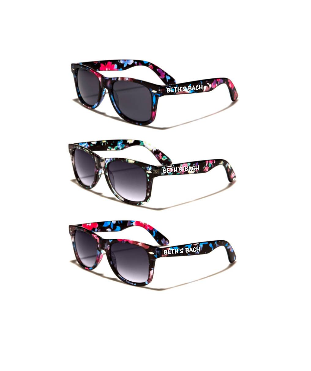 Floral ADULT Personalized Sunglasses, Wedding Party Favor ...