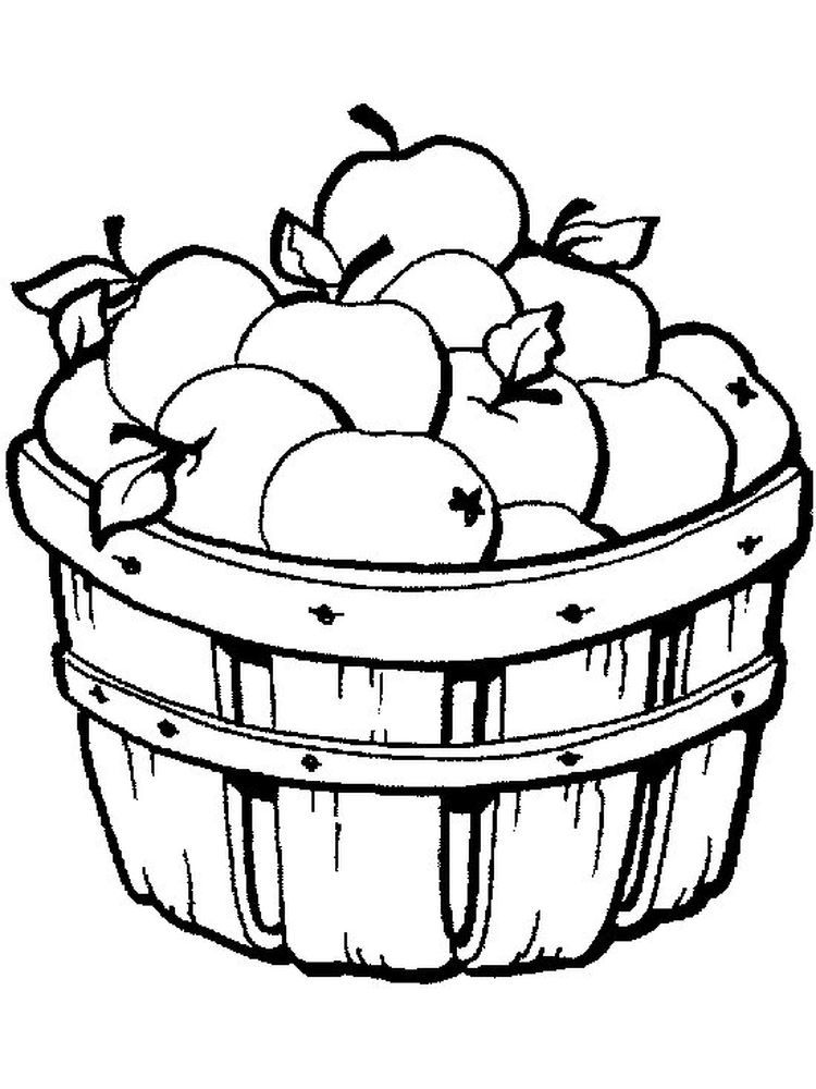 Apple Coloring Page To Print Apples Are One Of The Fruits That Many People Like Apart From Its Taste It Is Also Because Of The Clip Art Cara Menggambar Buah