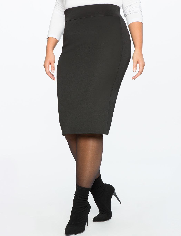 d9b7a8a63ef Neoprene Plus Size Pencil Skirt