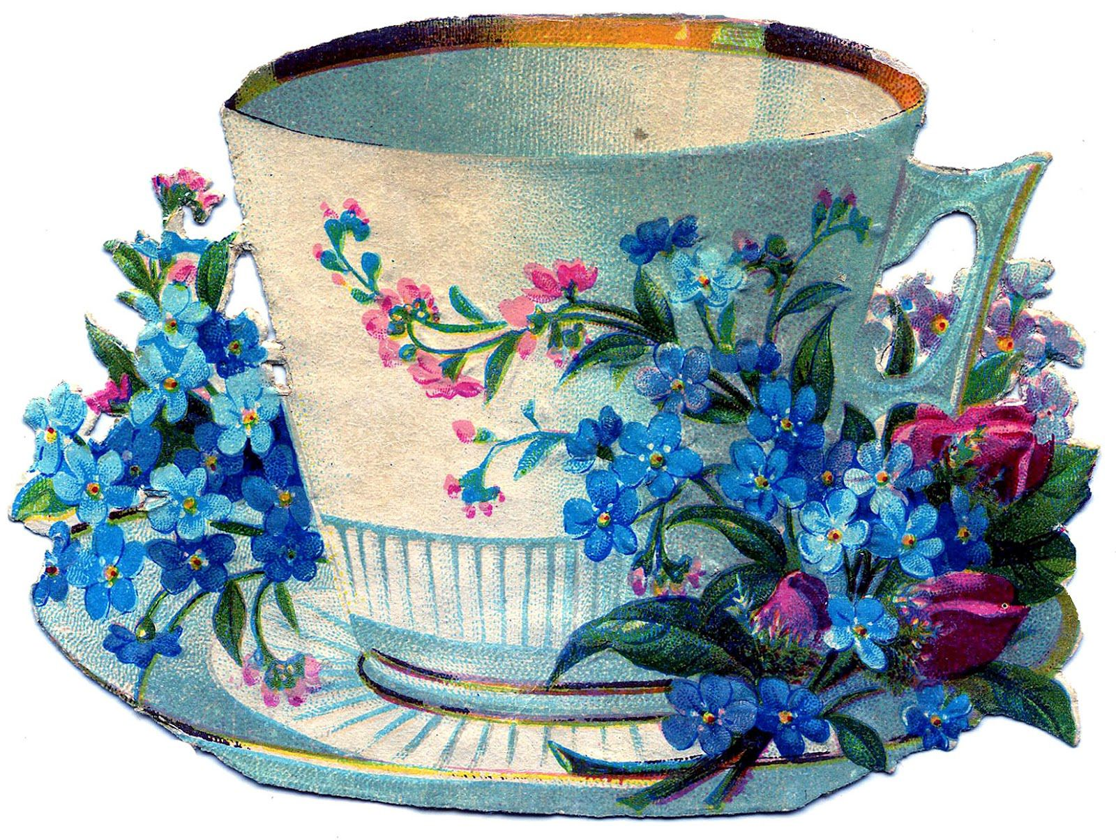 22 Pretty Teacups Roses and more! Vintage paper crafts