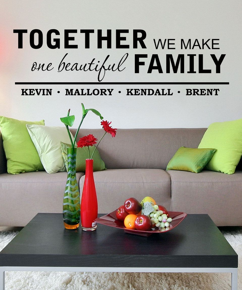 'One Beautiful Family' Personalized Decal by LolliPOP Walls #zulily #zulilyfinds