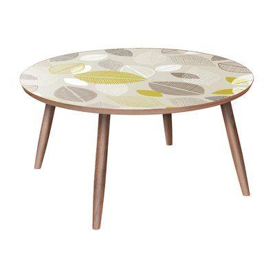 Brayden Studio Mancos Coffee Table Table Base Color Walnut Table Top Color Blue Coffee Table Extendable Coffee Table Coffee Table Setting