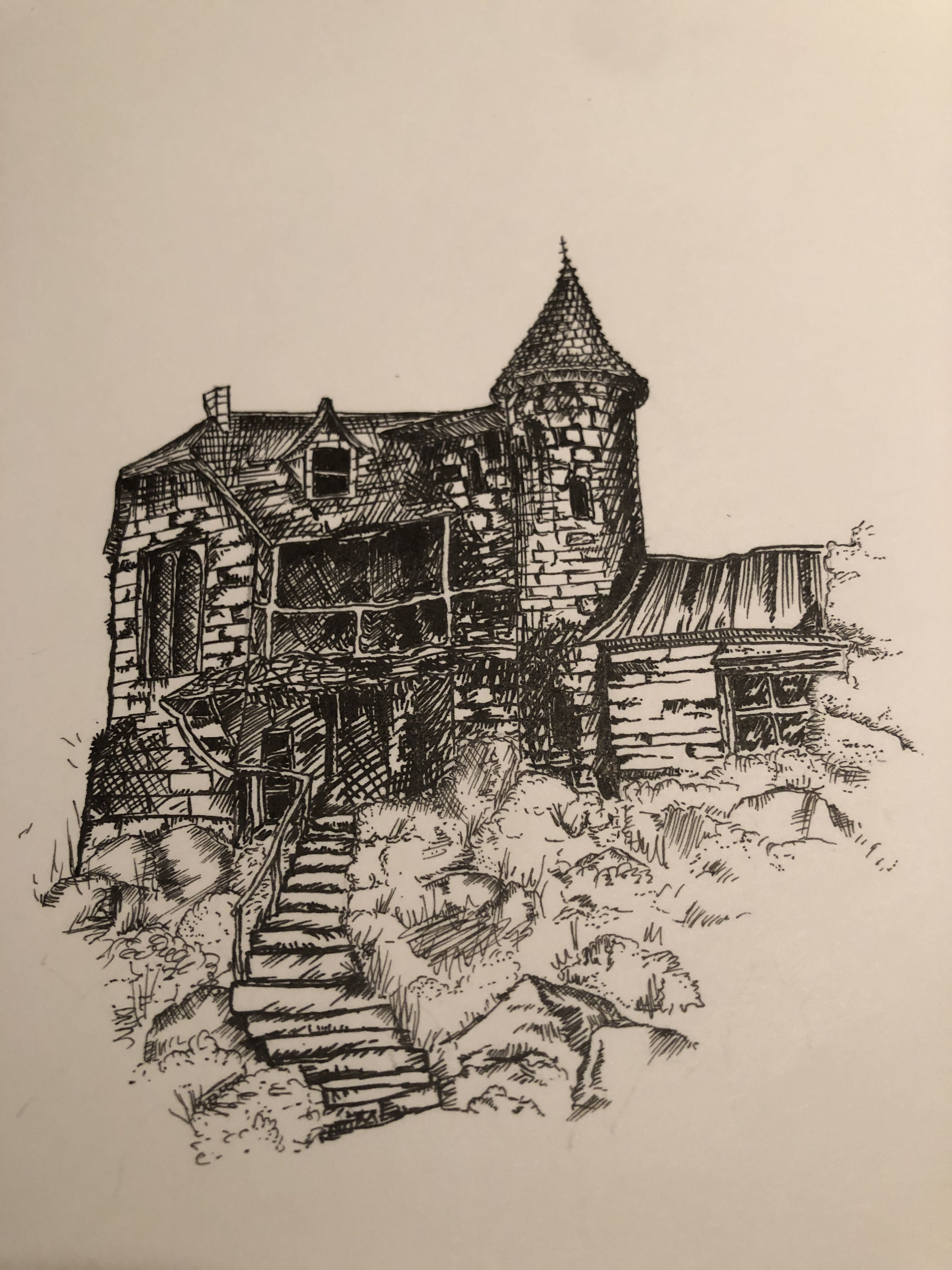 The Shrieking Shack Original Content Harry Potter Drawings Sketch Book Abstract Artwork