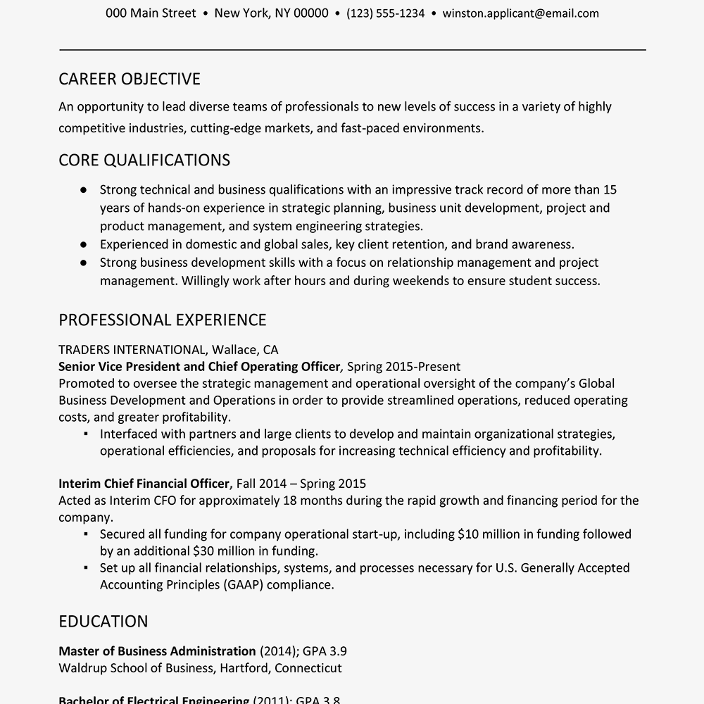 Account Executive Resume Examples Fresh Executive Resume Example With A Profile Resume Examples Job Resume Examples Job Resume Samples