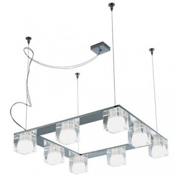 Cubetto 8 light square pendant light #modern #lighting #pendantlight #Interiordesign #homedecor