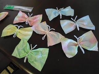 Fun and easy paper towel butterflies!
