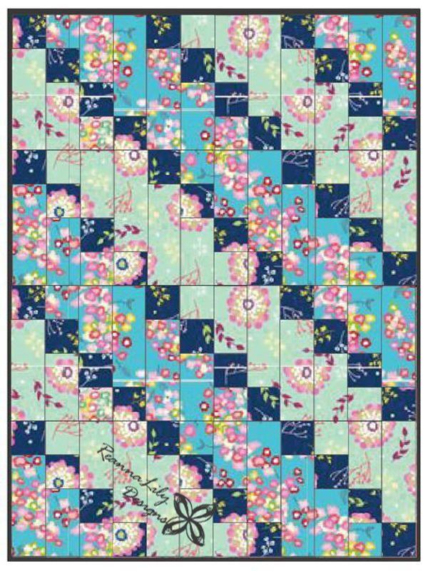 Strip-Pieced Diagonal Beginner Quilt | AllFreeSewing.com