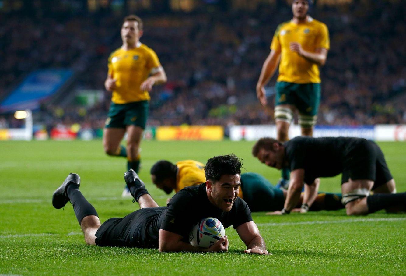 Milner Skudder S Try All Blacks Rugby Team World Rugby