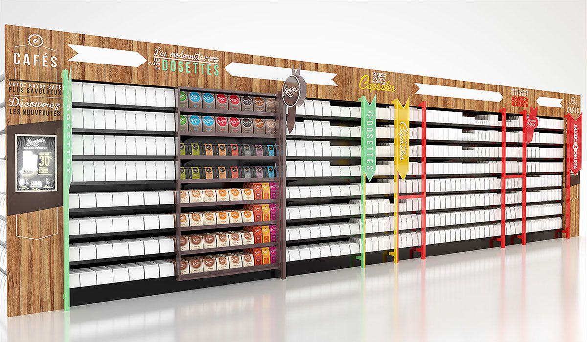 Https Www Behance Net Gallery 25752899 Collection Shelves Display Display Shelves Retail Wall Displays Cardboard Display