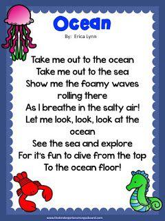 Schedulin Sunday! Oceans | The Kindergarten Smorgasboard | Pinterest ...