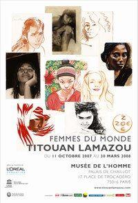 """Infos pratiques Titouan Lamazou - Titouan Lamazou, Interview de l'artiste et portraits de femmes, Exposition """"Femmes du monde"""" -"""