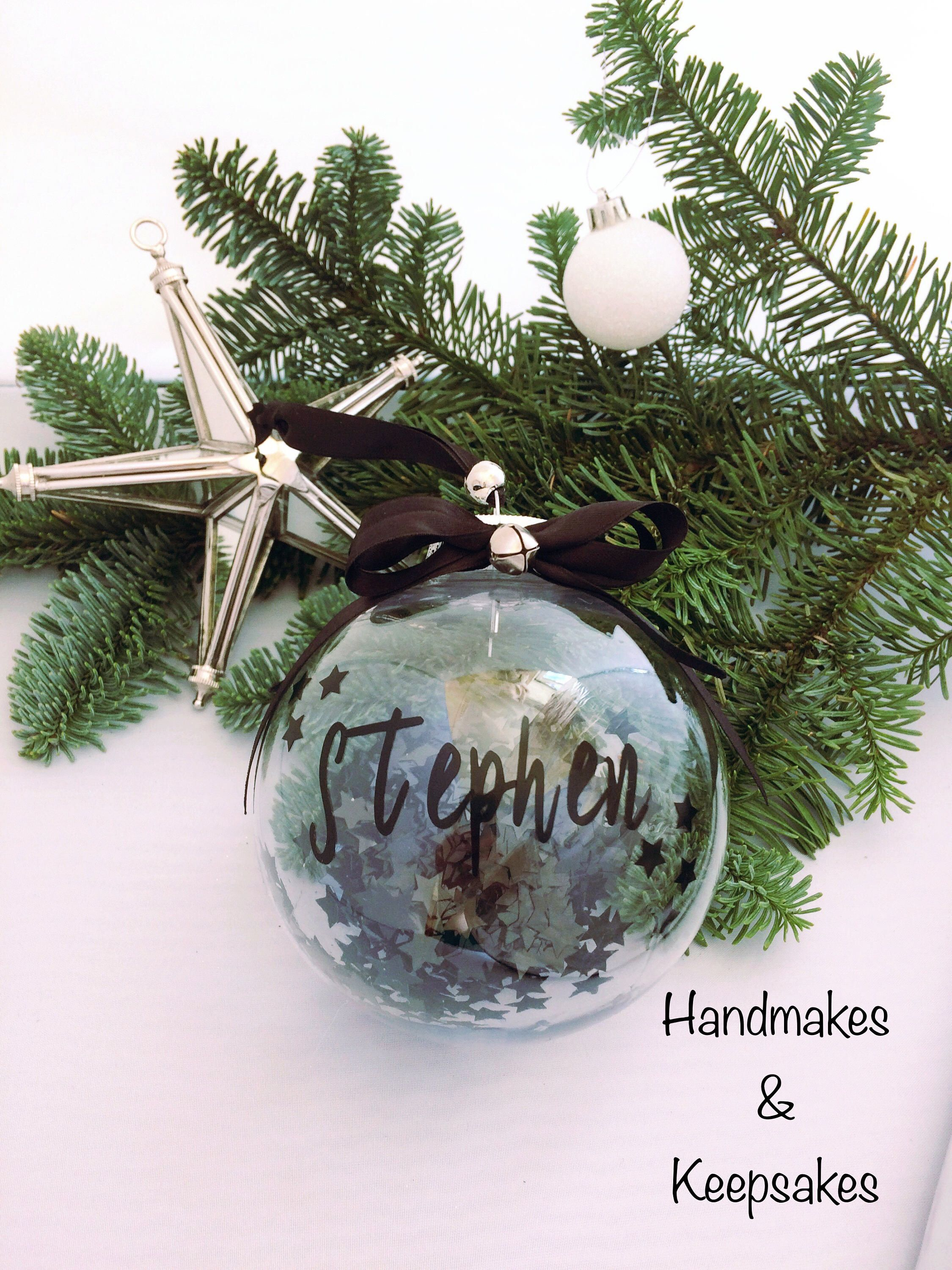Personalised Bauble Christmas Bauble Glass Bauble Bauble