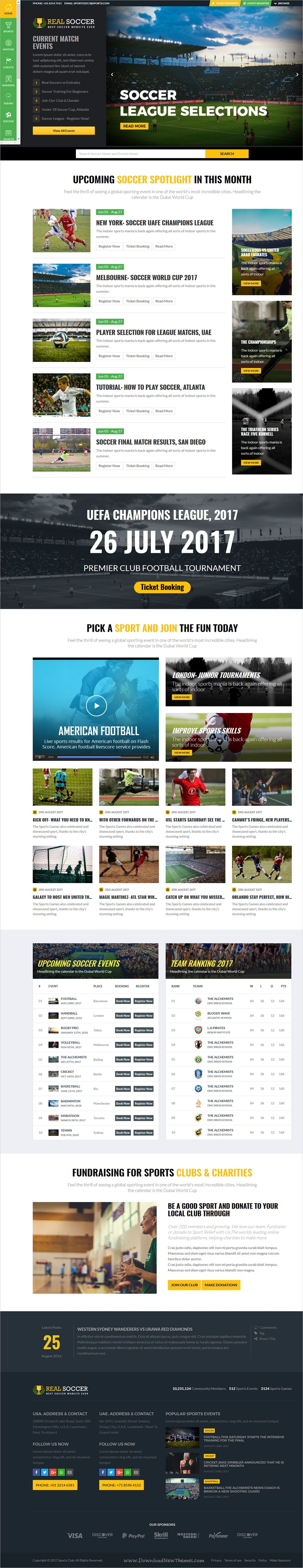 wedding invitation template themeforest%0A Real sports club is a super flexible HTML  bootstrap theme for  football   soccer