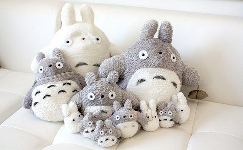 Totoro plush family. So adorable.