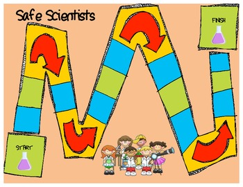 Science Safety Board Game | Science | Science safety